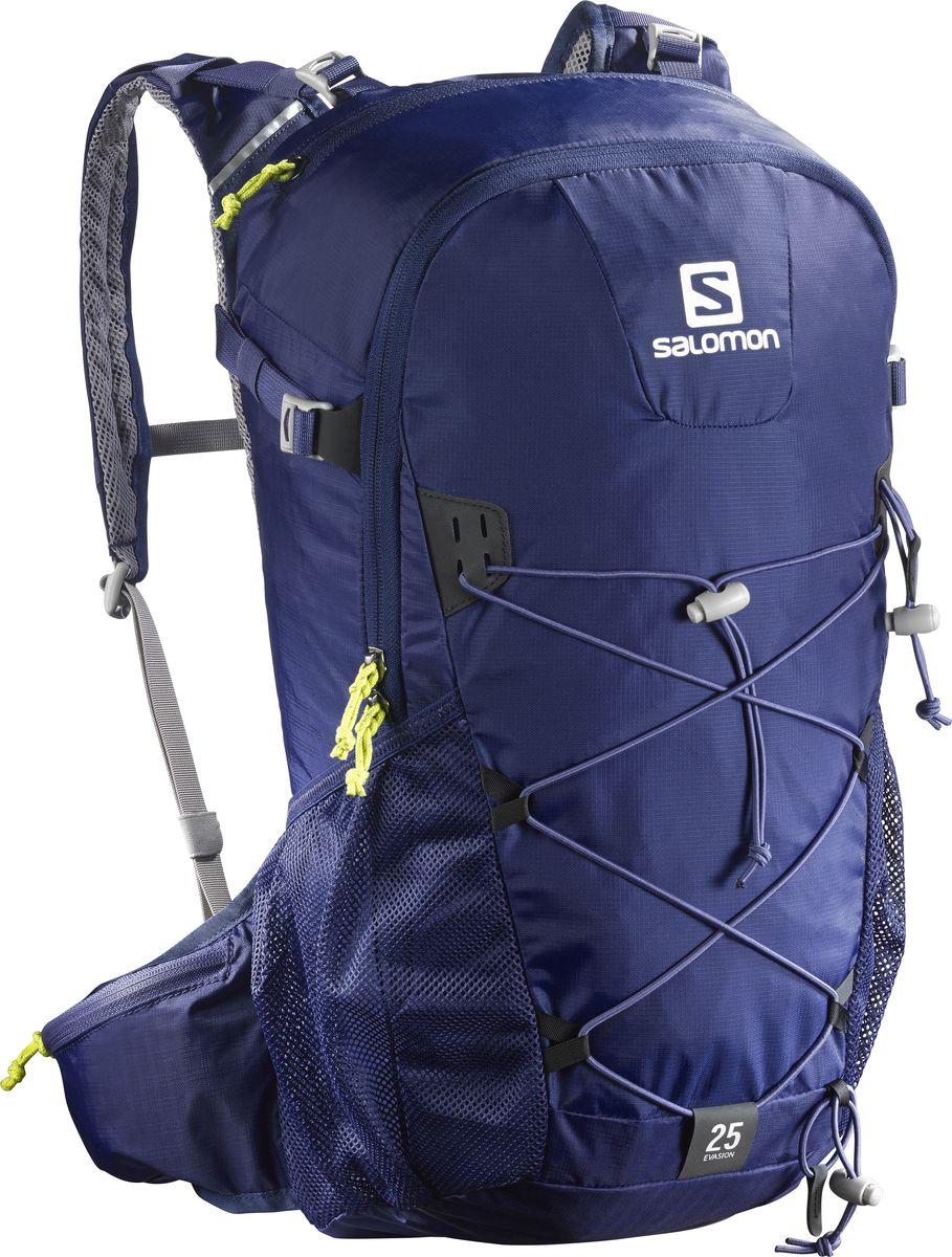Рюкзак спортивный Salomon Evasion 25, цвет: синий, 25 л. L39319600L39319600Устойчивый и комфортный рюкзак Evasion 25 имеет фиксаторы для палок и другого снаряжения, необходимого во время однодневного похода.