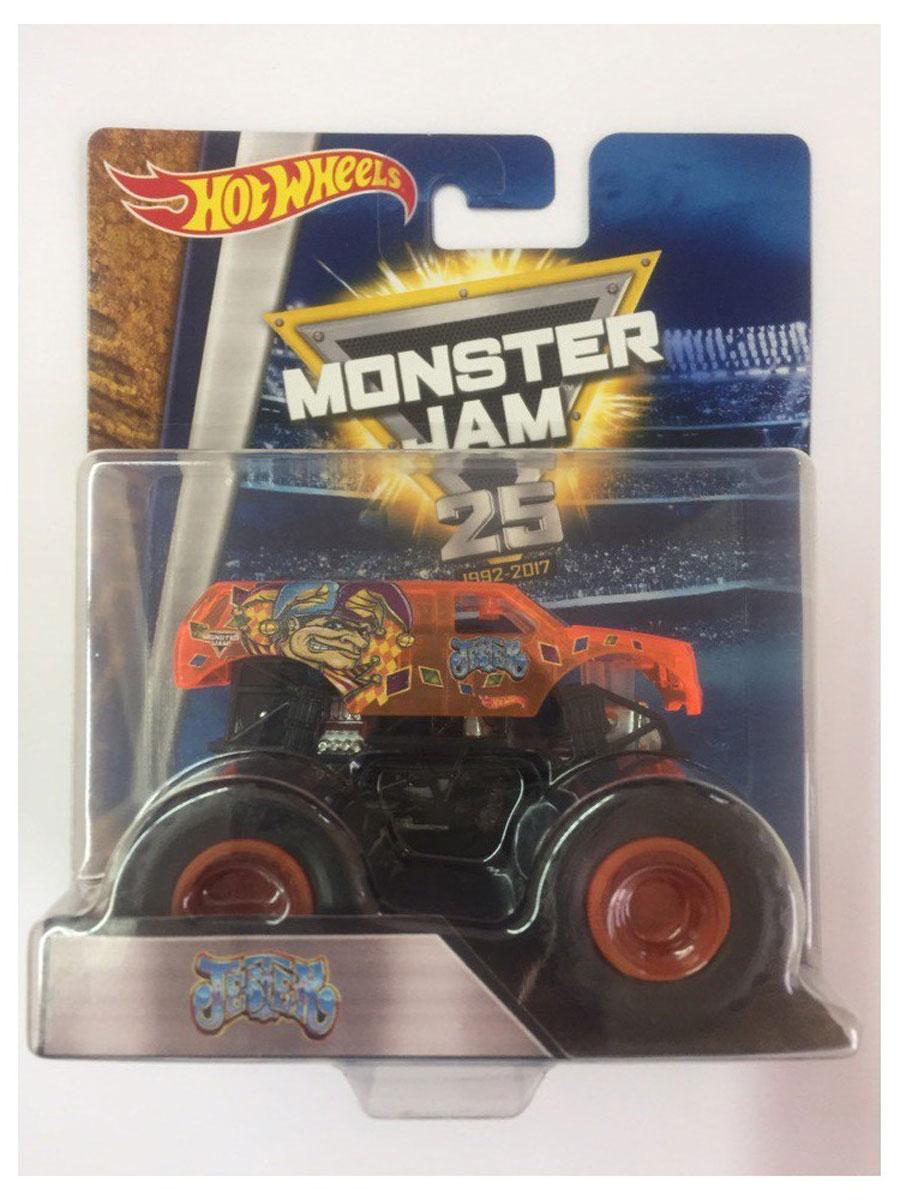 Hot Wheels Monster Jam Машинка JesterBHP37_CFY97Машинка Hot Wheels Monster Jam. Jester - знаменитая модель легендарного автомобиля с большими колесами. Литой корпус, сверкающая кабина, хромированные диски и неповторимый тюнинг - то, что выделяет эту модель среди других. Ваш ребенок будет в восторге от такого подарка!