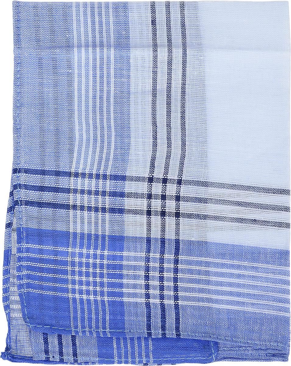 Платок носовой мужской Zlata Korunka, цвет: голубой, белый. 45449. Размер 34 х 32 см45449_голубой, белыйМужской носовой платой Zlata Korunka изготовлен из натурального хлопка, приятен в использовании, хорошо стирается, материал не садится и отлично впитывает влагу. Оформлена модель принтом в полоску.