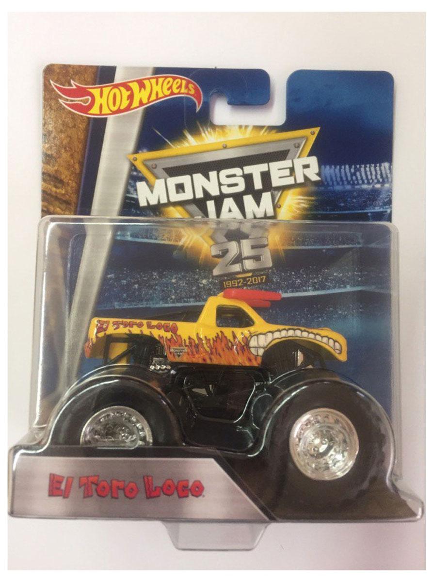 Hot Wheels Monster Jam Машинка El Toro Loco цвет желтыйBHP37_DRR85Машинка Hot Wheels Monster Jam. El Toro Loco - знаменитая модель легендарного автомобиля с большими колесами. Литой корпус, сверкающая кабина, хромированные диски и неповторимый тюнинг - то, что выделяет эту модель среди других. Ваш ребенок будет в восторге от такого подарка!