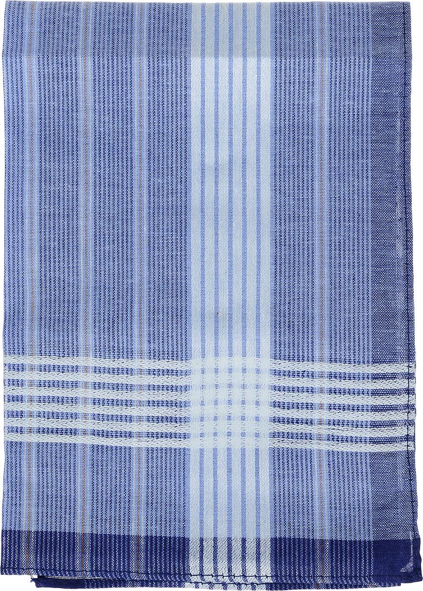 Платок носовой мужской Zlata Korunka, цвет: голубой, синий. 45495. Размер 38 х 38 см45495_голубой, синийМужской носовой платок Zlata Korunka, изготовленный из натурального хлопка, приятен в использовании и отлично впитывает влагу. Материал не садится и хорошо стирается. Модель оформлена принтом в полоску.