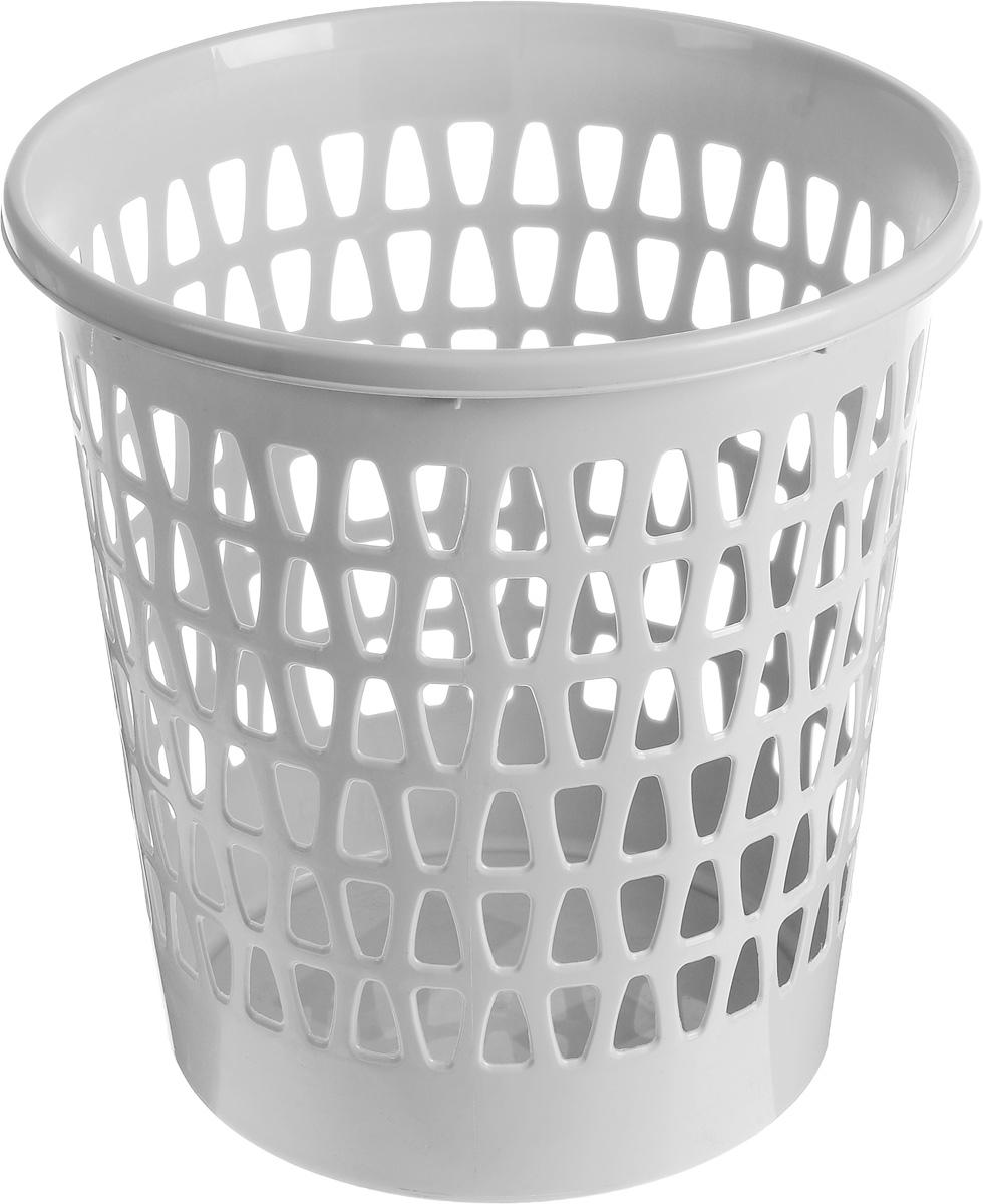 Корзина офисная Эльфпласт Вега, для мусора, цвет: серый, высота 28,5 см225Офисная корзина для мусора Эльфпласт Вега, изготовлена из высококачественного пластика. Вы можете использовать ее для выбрасывания разных пищевых и не пищевых отходов. Изделие имеет перфорацию на стенках и сплошное дно. Такая корзина поможет содержать ваше рабочее место в порядке. Диаметр (по верхнему краю): 27 см. Высота: 28,5 см.