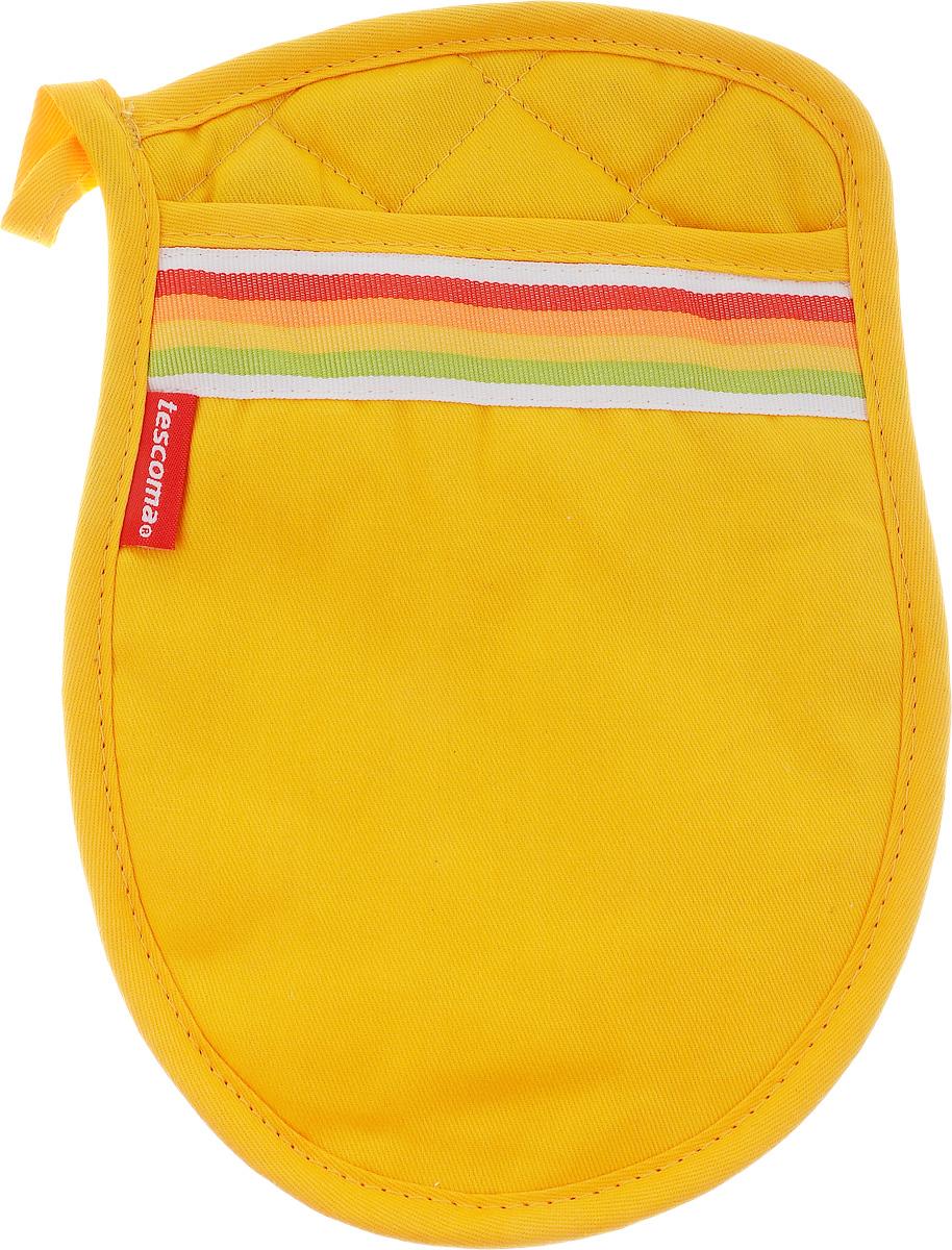 Прихватка Tescoma Presto Tone, цвет: желтый, 25 х 17 см639758_желтыйПрихватка Tescoma Presto Tone, изготовленная из 100% хлопка и дополненная рисунком из термостойкого силикона, имеет яркий дизайн. Для простоты и удобства хранения изделие оснащено петелькой для подвешивания. Такая прихватка защитит ваши руки от высоких температур и предотвратит появление ожогов. Рекомендуется стирка при температуре 30°С. Размер прихватки: 25 х 17 см.