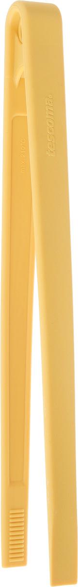 Щипцы кулинарные Tescoma Space Tone, цвет: желтый, длина 28 см638060_желтыйКулинарные щипцы Tescoma Space Tone, выполненные из высококачественного термостойкого нейлона, предназначены для комфортных манипуляций с приготавливаемым продуктом. Такими щипцами удобно переворачивать мясо, тефтели, колбаски, рулеты и другие продукты во время приготовления. Щипцы оснащены отверстием, за которое можно их повесить в удобном для вас месте. Выдерживают температуру до +210°С. Можно мыть в посудомоечной машине. Длина щипцов: 28 см.