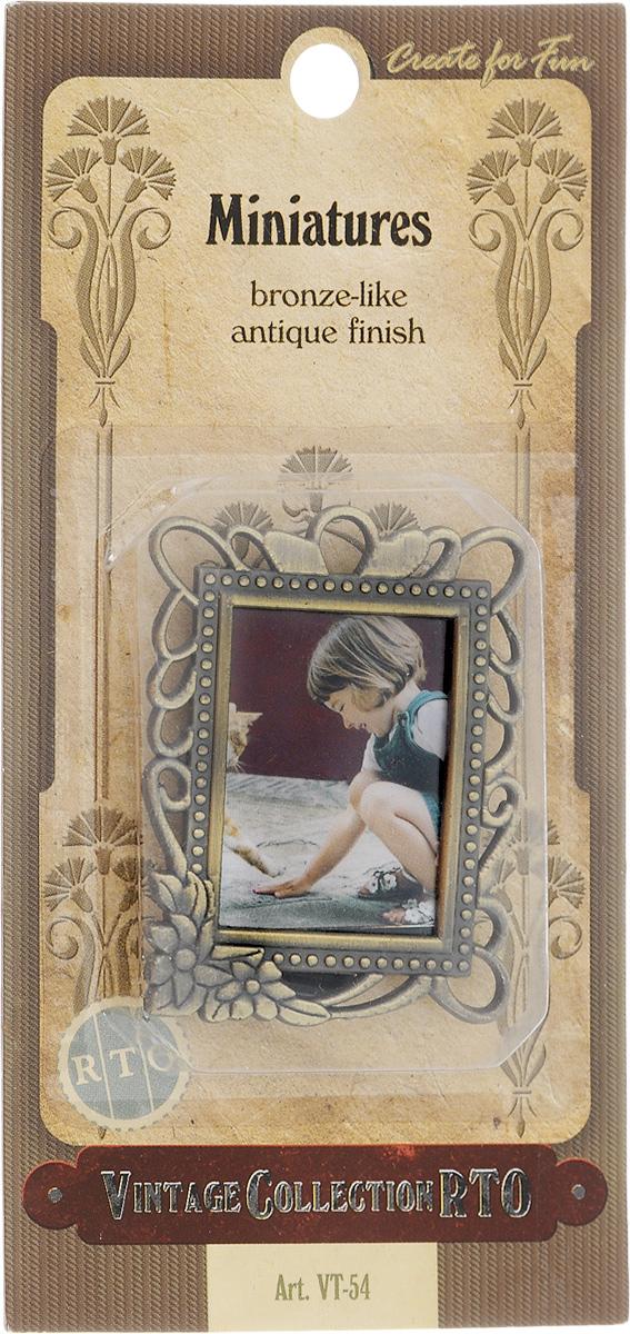 Фоторамка RTO Miniatures. Девочка с кошкой, 2,5 х 3,5 см подвеска винтажная rto шар