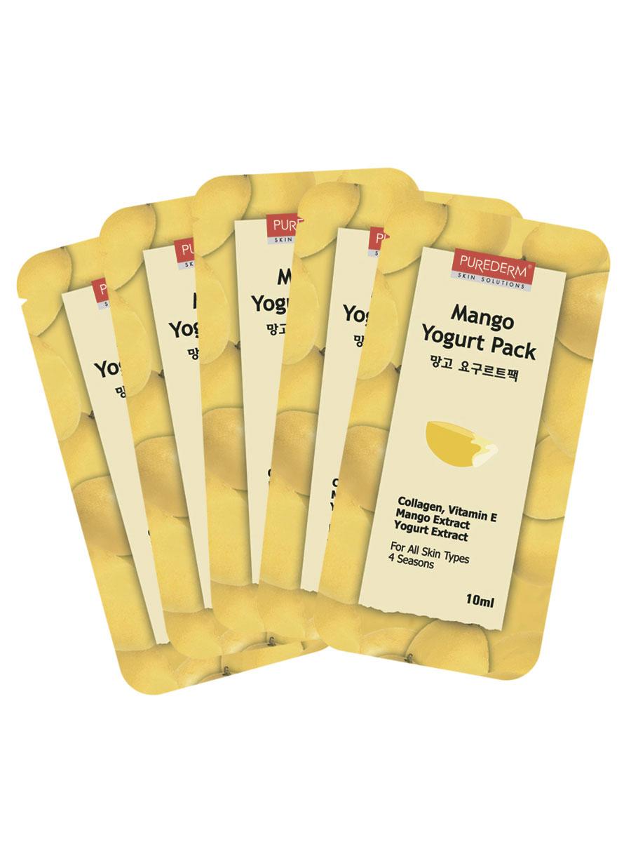 Йогуртовая маска Purederm. Манго, 10 мл x 55N581770Набор из 5 пакетов-саше по 10 мл с йогуртовой маской Purederm. Манго. Йогуртовая смываемая массажная маска содержит экстракт манго и йогурта. Экстракт манго успокаивает и увлажняет кожу, входящий в состав маски йогурт освежает и смягчает кожу. Витамин Е и коллаген увеличивают эластичность кожи и отбеливают ее. Маска не занимает много времени, достаточно 5-10 минут, для того чтобы ваша кожа преобразилась и обрела здоровый, свежий вид. Подходит для всех типов кожи. Характеристики: Производитель: Корея. Количество масок в упаковке: 5 штук. Purederm - линия средств для быстрого и эффективного ухода за кожей. Современный ритм жизни требует от женщины высокой активности и подвижности, поэтому многие женщины сталкиваются с проблемой нехватки времени на уход за своей кожей. Линия Purederm предназначена специально для женщин, которые ценят свое время и заботятся о своей красоте! Достоинства косметики Purederm: легкая...