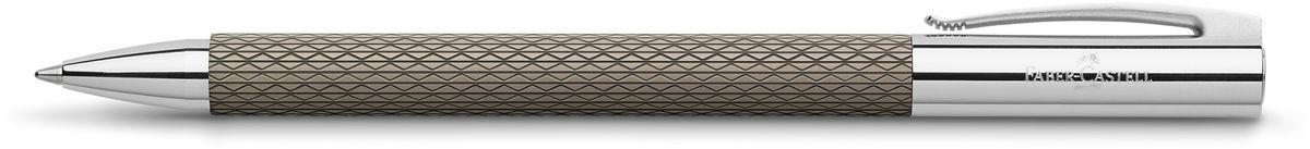 Faber-Castell Ручка шариковая Ambition Op Art Black Send147055Шариковая ручка высшего качества корпус изготовлен из редкой смолы с уникальным рисунком оба конца из хромированного шлифованного металла упругий клип поворотный механизм twist объемный черный стержень М индивидуальная подарочная упаковка