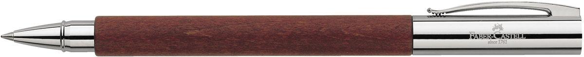 Faber-Castell Ручка роллер Ambition Birnbaum148111Роллер высшего качества корпус изготовлен из грушевого дерева оба конца из хромированного шлифованного металла упругий клип черный стержень с быстросохнущими чернилами индивидуальная подарочная упаковка