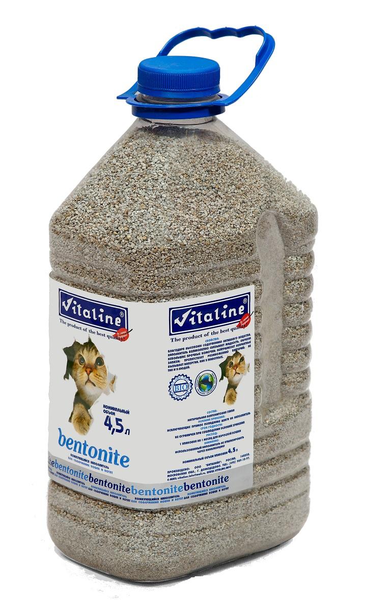 Наполнитель для кошачьих туалетов Vitaline Бентонит, комкующийся, 4,5 л333Наполнитель бентонит отлично впитывает жидкости, и образует плотные комочки, которые легко удалить из кошачьего туалета. Бентонит абсолютно безвреден для окружающей среды, обладает бактерицидными свойствами, устраняет неприятный запах и может использоваться в качестве удобрения. Данный наполнитель для туалета отлично подойдет для котят. Рекомендации к применению: Насыпать слой в 4-5 см. При необходимости убирать комочки и досыпать наполнитель. Характеристики товара: Номинальный объем упаковки 4,5 л. Хранить при условиях исключающие прямое попадание влаги на наполнитель. Срок годности не ограничен при соблюдении условий хранения.