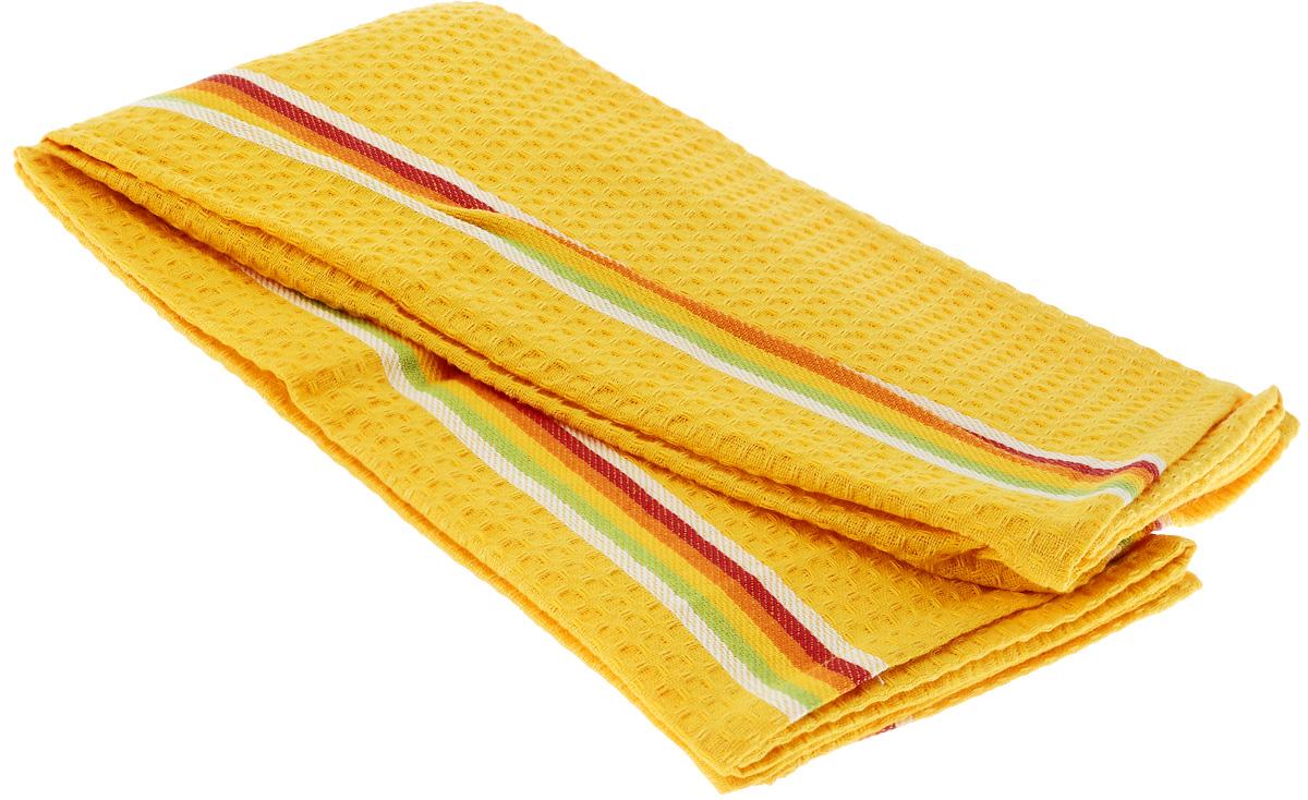 Полотенце для посуды Tescoma Presto Tone, цвет: желтый, 70 x 50 см, 2 шт639770_ЖелтыйМягкое полотенце Tescoma Presto Tone выполнено из натурального хлопка. Изделие отлично впитывает влагу и не оставляет подтеков. Полотенце предназначено для протирания посуды и многофункционального использования на кухне. В комплект входят 2 полотенца. Традиционная клеточка и сочные цвета сделают изделие украшением любого кухонного интерьера. Размер: 70 х 50 см.