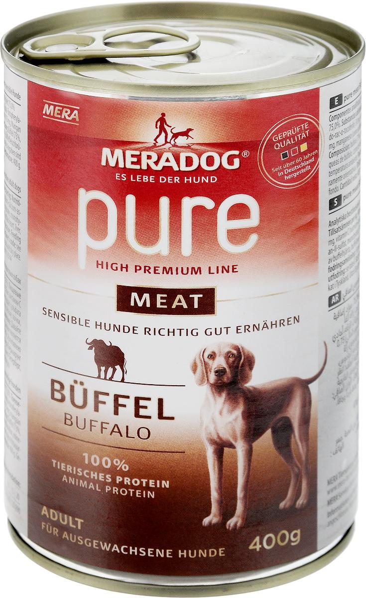 Консервы для собак Meradog Pure Meat, с буйволом, 400 г52904Консервы для собак Meradog Pure Meat - полнорационный корм, представляющий собой фарш из нескольких видов мясного сырья буйвола (мясо, качественные субпродукты). Этот беззерновой корм идеально подходит для привередливых собак, а также для собак с пищевыми проблемами и аллергиями. Благодаря содержанию исключительно натуральных компонентов корм обеспечивает организм животного всеми необходимыми минеральными веществами и витаминами. Состав: буйвол (73%: сердца, печень, легкие, почки, трахеи, мясо буйвола), бульон из мяса буйвола, минеральные вещества. Пищевая ценность: белки 10,5%, жиры 6,5%, сырая зола 2%, сырая клетчатка 0,4%, влага 75%. Товар сертифицирован.