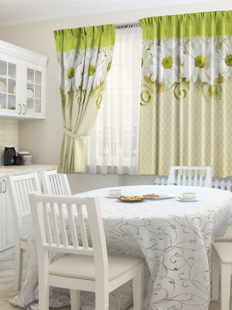 Комплект штор для кухни Zlata Korunka Улыбка, на ленте, высота 160 см21323