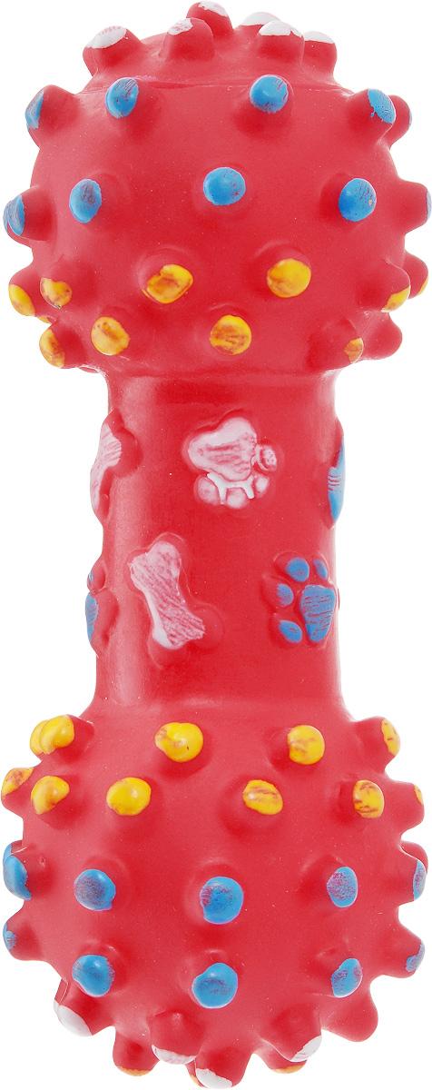 """Игрушка для собак Zoobaloo """"Гантель"""", с пищалкой, длина 17 см 316"""