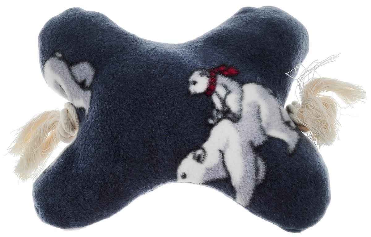 Игрушка для собак Zoobaloo Кость на канате, цвет: синий, белый, красный, длина 25 см452_синийИгрушка для собак Zoobaloo Кость на канате изготовлена из прочной ткани. Игрушка выполнена в форме кости на канате. Изделие является отличной альтернативой классическим игрушкам из резины и латекса. Оно обязательно понравится тем собакам, которые любят носить игрушки в зубах. Внутри игрушки спрятан шуршащий элемент.
