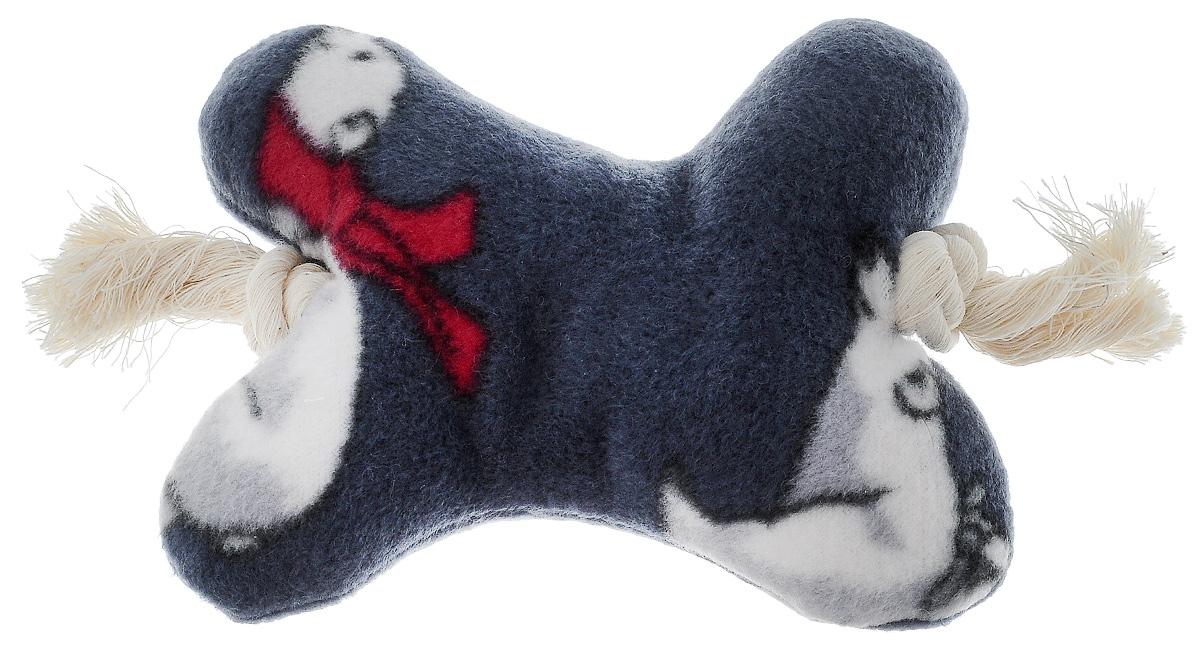 Игрушка для собак Zoobaloo Кость на канате, цвет: серый, белый, красный, длина 20 см450Игрушка для собак Zoobaloo Кость на канате изготовлена из прочной ткани. Игрушка выполнена в форме кости на канате. Изделие является отличной альтернативой классическим игрушкам из резины и латекса. Оно обязательно понравится тем собакам, которые любят носить игрушки в зубах. Внутри игрушки спрятан шуршащий элемент.