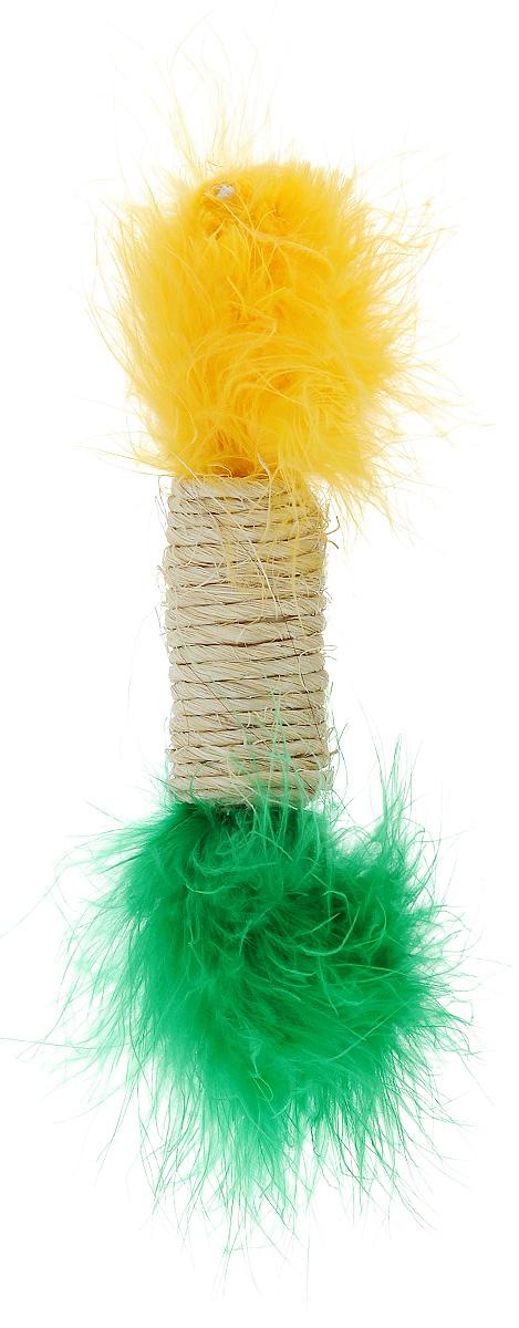 Игрушка для кошек Zoobaloo Когтеточка сизаль цилиндр с марабу, длина 15 см3311Игрушка Zoobaloo Когтеточка сизаль цилиндр с марабу предназначена для кошек. Игрушка выполнена из сизаля. Верхняя и нижняя части украшены искусственным мехом. Превосходное приспособление для стачивания когтей. Изделие пропитано кошачьей мятой, которая очень нравится кошкам. Игрушка снабжена бубенчиком. Длина игрушки: 15 см. Диаметр игрушки: 2,5 см. УВАЖАЕМЫЕ КЛИЕНТЫ! Обращаем ваше внимание на возможные изменения в цветовом дизайне, связанные с ассортиментом продукции. Поставка осуществляется в зависимости от наличия на складе.