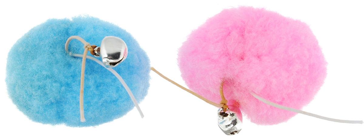 Игрушка для кошек Zoobaloo Набор плюшевых мячей, цвет: розовый, голубой, 2 шт327_розовый/голубойИгрушка Набор плюшевых мячей предназначена для кошек. Набор состоит из двух мягких мячиков, пропитанных кошачьей мятой. Плюшевые мячики связаны между собой тонким шнурком и снабжены бубенчиками. Такая игрушка порадует вашего любимца, а вам доставит массу приятных эмоций, ведь наблюдать за игрой всегда интересно и приятно. Размер одного мячика: 4 х 3 х 2 см.