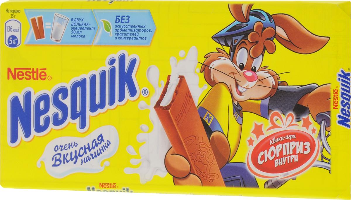 Nesquik молочный шоколад с молочной начинкой, 100 г 12236294