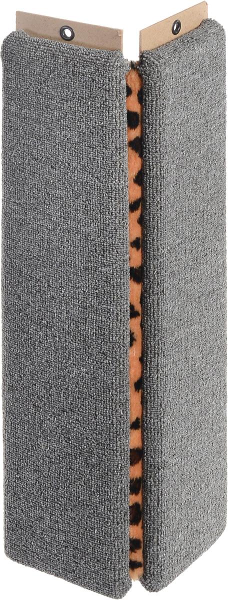 Когтеточка Меридиан, настенная, угловая, цвет: серый, оранжевый, черный, длина 68 смК023_серый, леопардУгловая когтеточка Меридиан предназначена для стачивания когтей вашей кошки и предотвращения их врастания. Волокна ковролина обеспечивают естественный уход за когтями питомца. Когтеточка позволяет сохранить неповрежденными мебель и другие предметы интерьера. Угловая когтеточка может крепиться на смежных поверхностях стен и пола. Длина когтеточки: 68 см. Длина рабочей части: 65 см. Ширина одной поверхности: 15 см.
