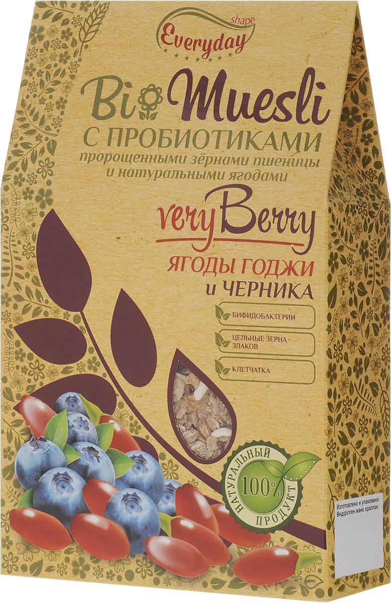 Everyday Bio мюсли с ягодами годжи и черникой, 250 г