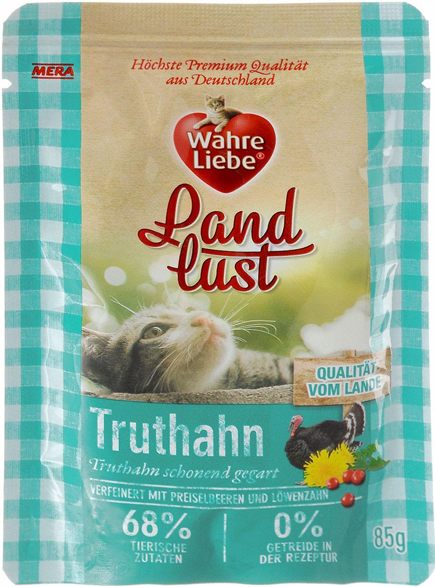 Консервы для кошек Wahre Liebe Nassfutter, с индейкой в желе с клюквой и одуванчиком, 85 г33001Консервы для кошек Wahre Liebe Nassfutter - сбалансированный влажный корм для кошек склонных к аллергии, в период диеты а также с чувствительным пищеварением. Корм изготовлен только из свежих натуральных ингредиентов. Подходит для самых привередливых кошек. Содержание свежего мяса в каждом пакетике - не менее 68%! Состав: индейка (68%, содержит сердце индейки, мясо индейки, печень и шеи индейки), бульон из индейки, клюква 2%, минеральные вещества, одуванчик 0,1%, льняное масло. Товар сертифицирован.