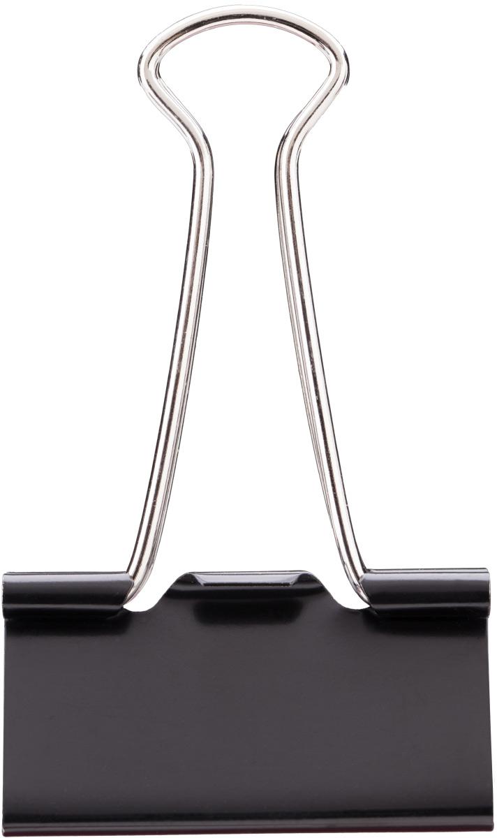 Deli Зажим для бумаг 5,1 см цвет черный 12 штE38561Зажимы металлические с электрофоретическим покрытием, исключающим возникновение царапин, ржавение, разрушение.