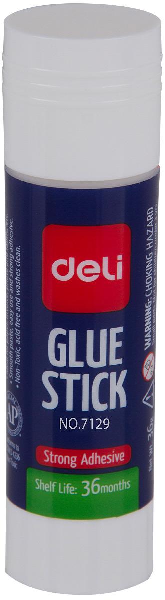 Deli Клей-карандаш 15 гE7129Удобный и практичный клей-карандаш незаменим на рабочем столе. Имеет прозрачную консистенцию, не токсичен.