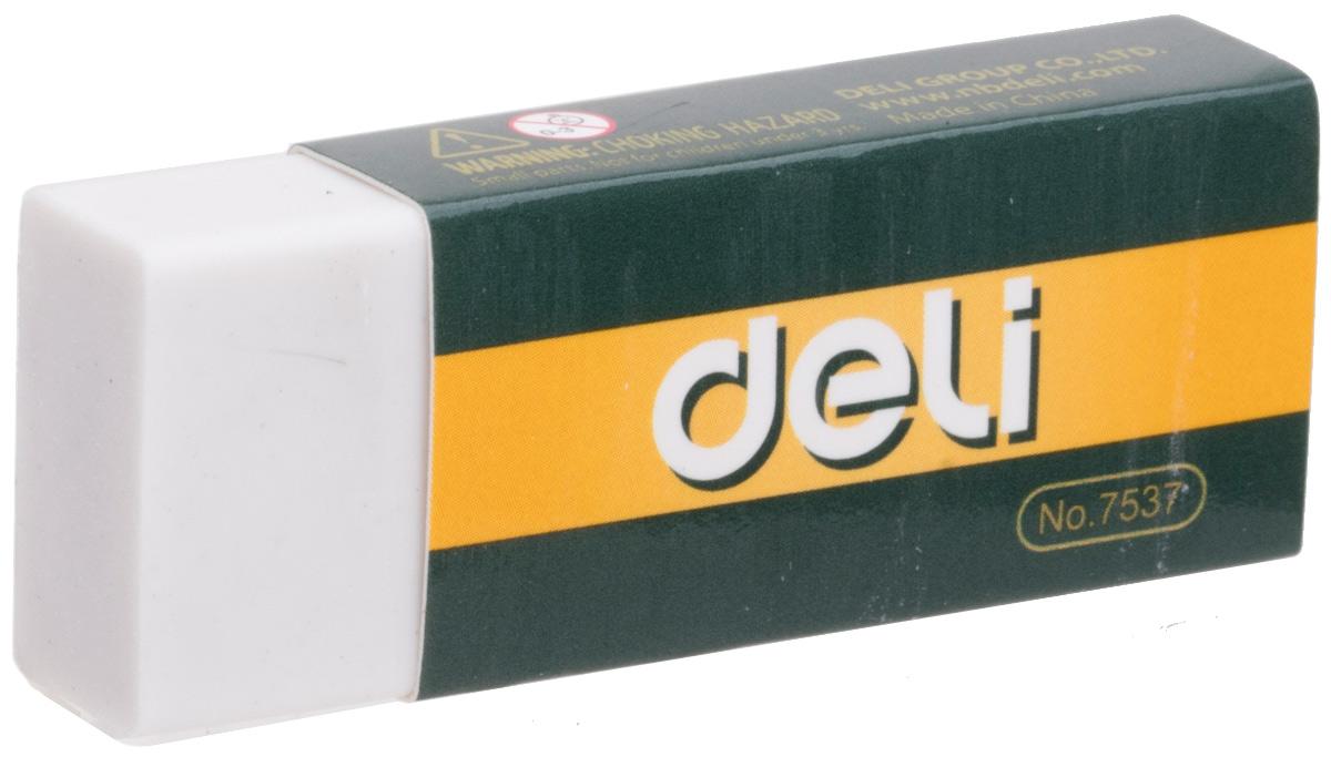 Deli Ластик цвет белый E7537E7537Ластик Deli имеет мягкую структуру, обладает высокой гибкостью, обеспечивая безупречное стирание. Ластик изготовлен из каучука и упакован в индивидуальную картонную упаковку.