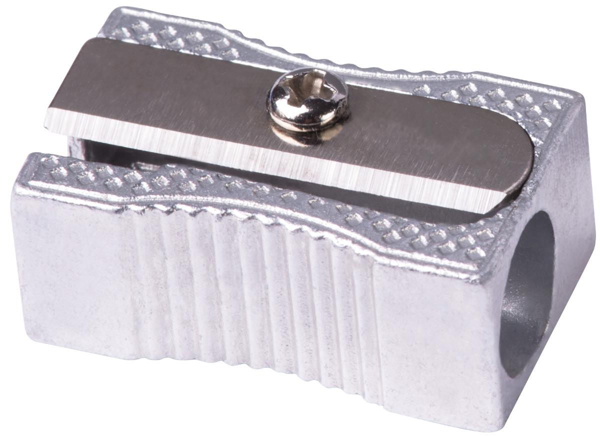 Deli Точилка E39760E39760Металлическая алюминиевая точилка Deli классического дизайна. Острое стальное лезвие обеспечивает качественную заточку карандашей. Наличие поперечных насечек на боковых гранях препятствует скольжению в процессе заточки.