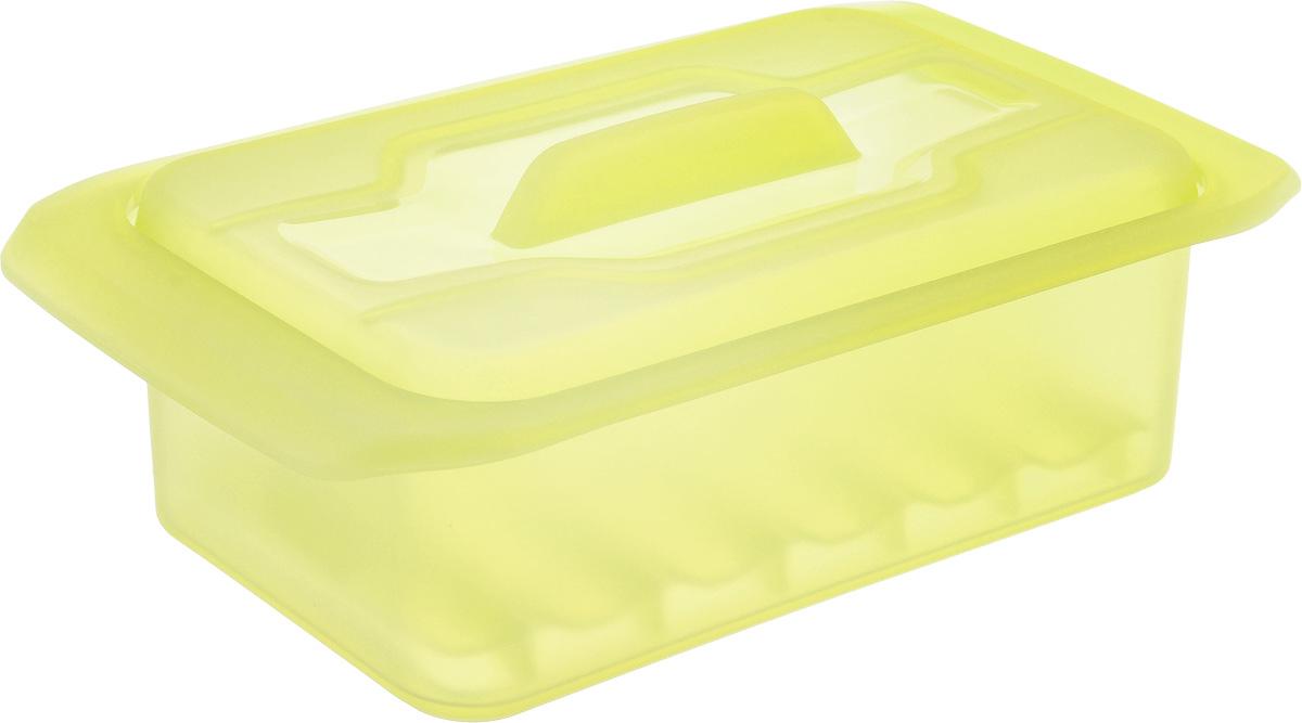 Контейнер-пароварка Tescoma Fusion Diet Revolution, силиконовый, цвет: желтый, 18 x 10 см. 638332638332_желтыйУникальная силиконовая пароварка с внутренней подставкой-решеткой и крышкой. Предназначена для приготовления низкокалорийных блюд на пару и в духовке. При приготовлении в посуде Fusion Diet Revolution внутри контейнеров создается интенсивный микроклимат, который придает блюдам ряд уникальных особенностей. Все предметы изготовлены из термостойкого силикона, выдерживают температуру до 230°С. Подходит для всех типов печей, в том числе микроволновой печи, а также для холодильника и морозильной камеры. Можно мыть в посудомоечной машине. В комплект входит книга с рецептами диетического питания. Размер контейнера: 18 x 10 см. Высота стенки контейнера: 7 см.