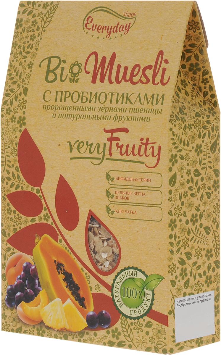 Everyday Bio мюсли с фруктами, 250 гбйф001Био Мюсли с пробиотиками, пророщенными зернами пшеницы и натуральными фруктами. Бифидобактерии наряду с другими представителями нормальной кишечной микрофлоры, способствуют процессам ферментативного переваривания пищи. Бифидобактерии способствуют поддержанию здоровой микрофлоры кишечника и при регулярном употреблении укрепляют иммунитет. Уважаемые клиенты! Обращаем ваше внимание, что полный перечень состава продукта представлен на дополнительном изображении.