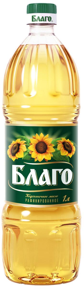 Благо масло подсолнечное рафинированное премиум сорт, 1 л 4607014780551