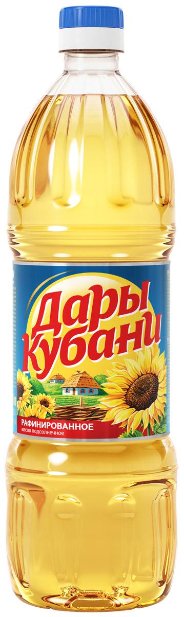 Дары Кубани масло подсолнечное рафинированное высший сорт, 1 л