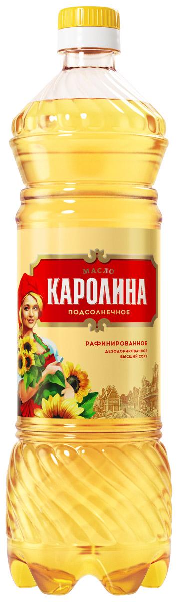 Каролина масло подсолнечное рафинированное высший сорт, 0,9 л