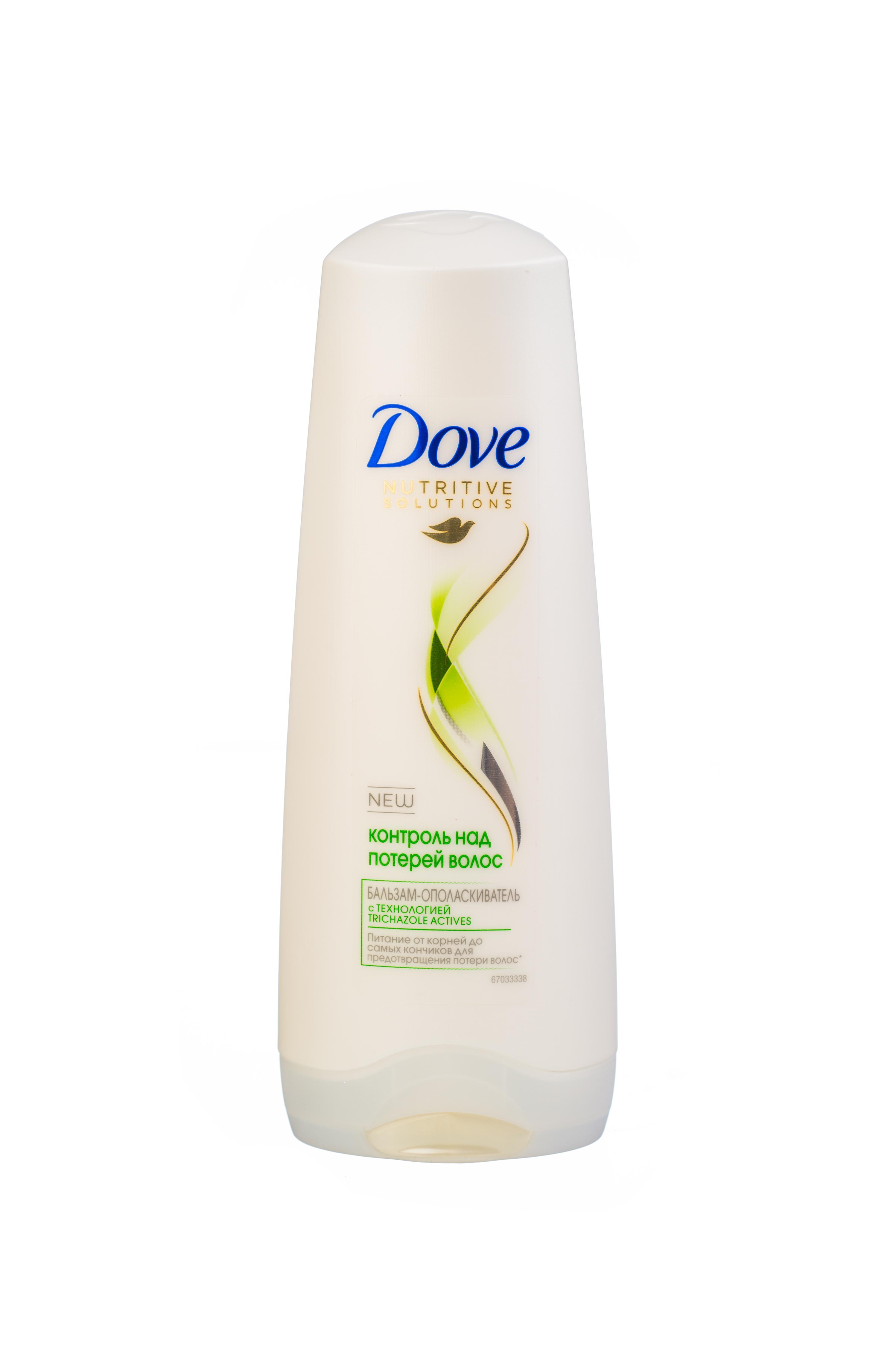 Dove Nutritive Solutions Бальзам-ополаскиватель Контроль над потерей волос 200 мл21075471Бальзам Dove Контроль над потерей волос мягко и бережно очищает хрупкие волосы, эффективно укрепляет их, помогая предотвратить ломкость. Увлажняющая Микро-сыворотка, входящая в состав бальзама-ополаскивателя, разглаживает поврежденную поверхность волоса, помогая восстановить и укрепить ослабленные ломкие волосы от корней до кончиков, уменьшая потерю волос на 98%. Наслаждайтесь красотой сильных волос, устойчивых к повреждениям и выпадению из-за ломкости. Товар сертифицирован.