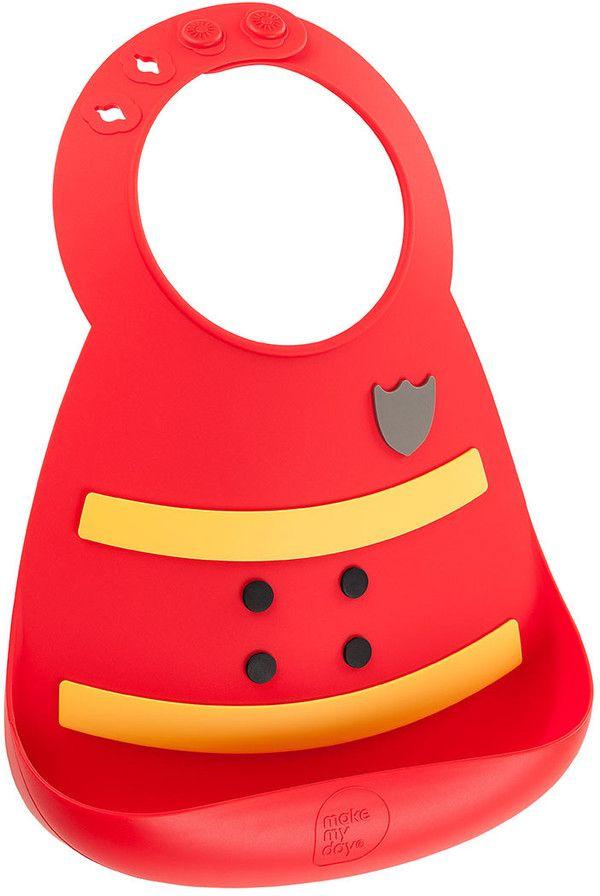 Make My Day Нагрудник Baby Bib FiremanBB114Детский нагрудник Make My Day Baby Bib Fireman выполнен из нежнейшего силикона. Подходит для детей от 6 месяцев до 3 лет. Имеет специальный кармашек, предотвращающий падение пищи на пол или на одежду малыша. Нагрудник не сковывает движения малыша и не отвлекает от приема пищи. Имеет регулируемую застежку, позволяющую увеличивать ширину горловины по мере роста ребенка. Нагрудник можно мыть в посудомоечной машине. Разработан в США. Яркий красивый нагрудник поднимет настроение малышу и родителям!