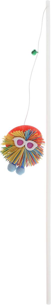 """Игрушка для кошек Zoobaloo """"Дразнилка. Шуршик"""", цвет: белый, голубой, красный, длина 58 см 102_красная шляпа"""
