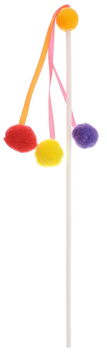 Игрушка для кошек Zoobaloo Дразнилка. Карусель, цвет: желтый, длина 56 см107_желтыйИгрушка для кошек Zoobaloo Дразнилка. Карусель выполнена из пластикового стержня с тремя подвешенными на атласных лентах мягкими разноцветными шариками. Дразнилка превосходно развивает охотничьи инстинкты вашей кошки, а также развивает моторику передних лап и когтей. Такая игрушка порадует вашего любимца, а вам доставит массу приятных эмоций, ведь наблюдать за игрой всегда интересно и приятно. Длина стержня: 35 см. Общая длина игрушки: 56 см. Уважаемые клиенты, обращаем ваше внимание, что цвет помпонов в ассортименте и может меняться в зависимости от прихода на склад.