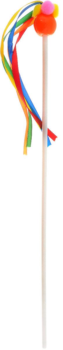 Игрушка для кошек Zoobaloo Дразнилка для котят, цвет: красный, длина 57 см109_красныйИгрушка для кошек Zoobaloo Дразнилка для котят с пластиковым стержнем дополнена на конце цветным шариком с разноцветными атласными лентами, которые сразу привлекут внимание вашего любимца. Дразнилка превосходно развивает охотничьи инстинкты вашей кошки, а также моторику передних лап и когтей. Такая игрушка порадует вашего любимца, а вам доставит массу приятных эмоций, ведь наблюдать за игрой всегда интересно и приятно. Длина стержня: 35 см. Общая длина игрушки: 57 см.