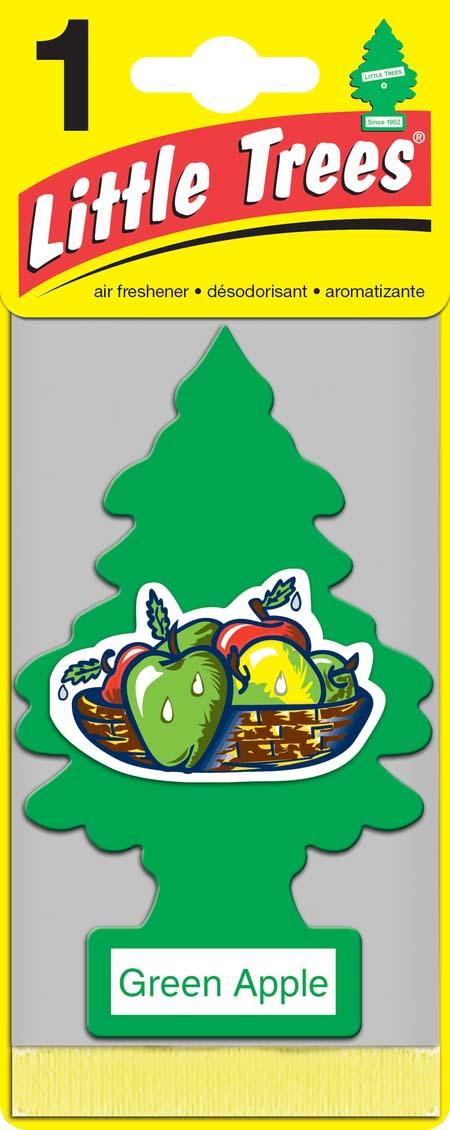 Освежитель Car-Freshner Елочка Зеленое яблокоU1P-10316-RUSSОригинальный ароматизатор Освежитель Car-Freshner Little Trees сделан из высококапилярного качественного картона - что позволяет долго сохранять аромат и насыщенность красок изображения. Уникален по эффективности действия, насыщенности и стойкости запаха Повесьте ароматизатор в любом удобном месте - в салоне автомобиля, дома или в офисе - и получайте удовольствие! Характеристики: Материал: 100% спрессованная целлюлоза, полимеры, нетоксичные отдушки. Размер упаковки: 19 см х 7,5 см х 1 см.