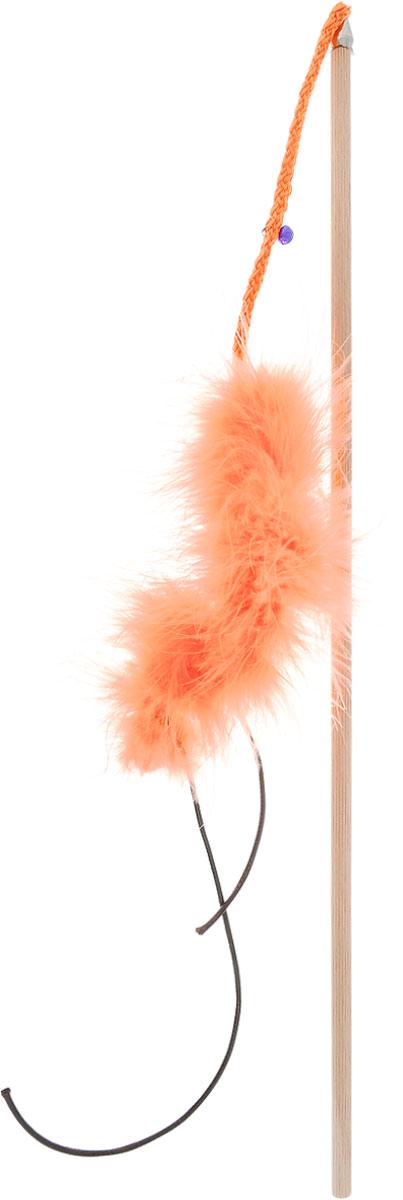 """Игрушка для кошек Zoobaloo """"Бамбук марабу со шнурками"""", длина 110 см 134"""