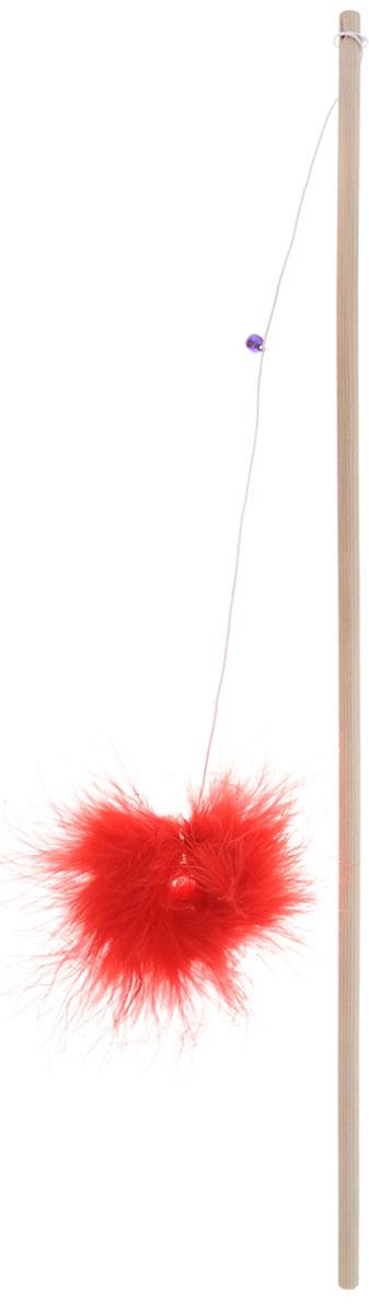 Игрушка для кошек Zoobaloo Бамбук меховой мячик на резинке, цвет: красный, светло-коричневый, 84,5 см125_красныйИгрушка для кошек Бамбук меховой мячик на резинке выполнена из бамбукового стержня с подвешенным на резинке меховым мячиком. Звук колокольчика привлечет внимание вашего питомца. Дразнилка превосходно развивает охотничьи инстинкты вашей кошки, а также развивает моторику передних лап и когтей. Такая игрушка порадует вашего любимца, а вам доставит массу приятных эмоций, ведь наблюдать за игрой всегда интересно и приятно. Длина стержня: 44,5 см. Общая длина игрушки: 84,5 см.