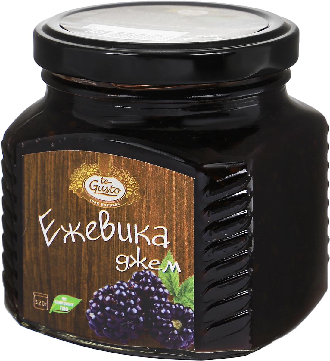 te Gusto Джем из ежевики, 320 г4657155301375Ароматный джем te Gusto изготовлен из ежевики, имеет желеобразную консистенцию с крупными кусочками ягод. Для приготовления джема используются только свежие, тщательно отобранные плоды, созревшие в экологически чистых местах. Продукт не содержит ГМО. Открыв ежевичное сокровище, вы получите не только вкусный натуральный десерт, но и эффективное лекарство от простуды. В соке ягоды масса биофлавонидов, которые способствуют снижению жара, нормализации температуры. Это лучше, чем все фармацевтические инновации. Уважаемые клиенты! Обращаем ваше внимание, что полный перечень состава продукта представлен на дополнительном изображении.