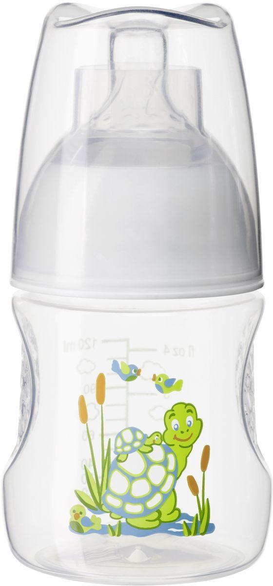Bibi Бутылочка для кормления с антиколиковой силиконовой соской Happiness Play with Us от 0 месяцев 120 мл113024