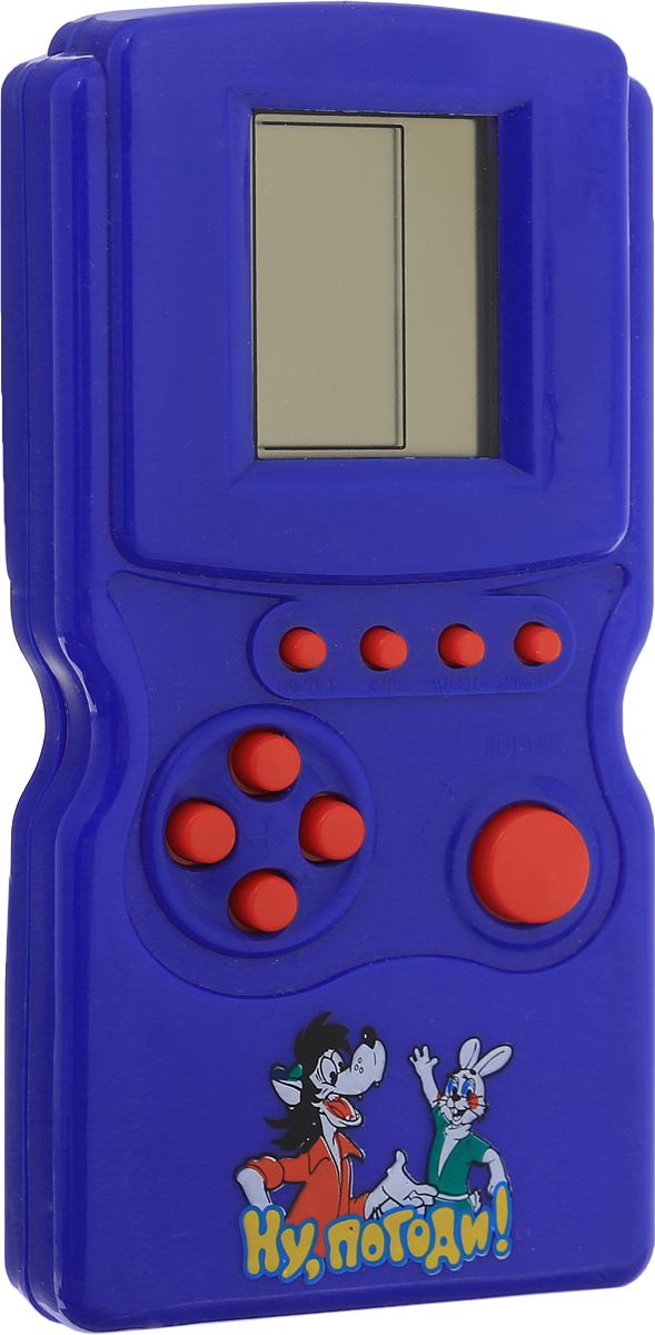 Играем вместе Тетрис Ну, погоди! 12 в 1 цвет синийA695-H05009-R_синийКаждый ребенок знаком с игрой Тетрис, а теперь он сможет носить любимую игру везде с собой! В электронном тетрисе десятки уровней сложности, которые захватят интерес малыша надолго. А ускоряющиеся падающие детали помогут ребенку развить внимание и реакцию. Необходимо купить 2 батарейки напряжением 1,5V типа АА (не входят в комплект).