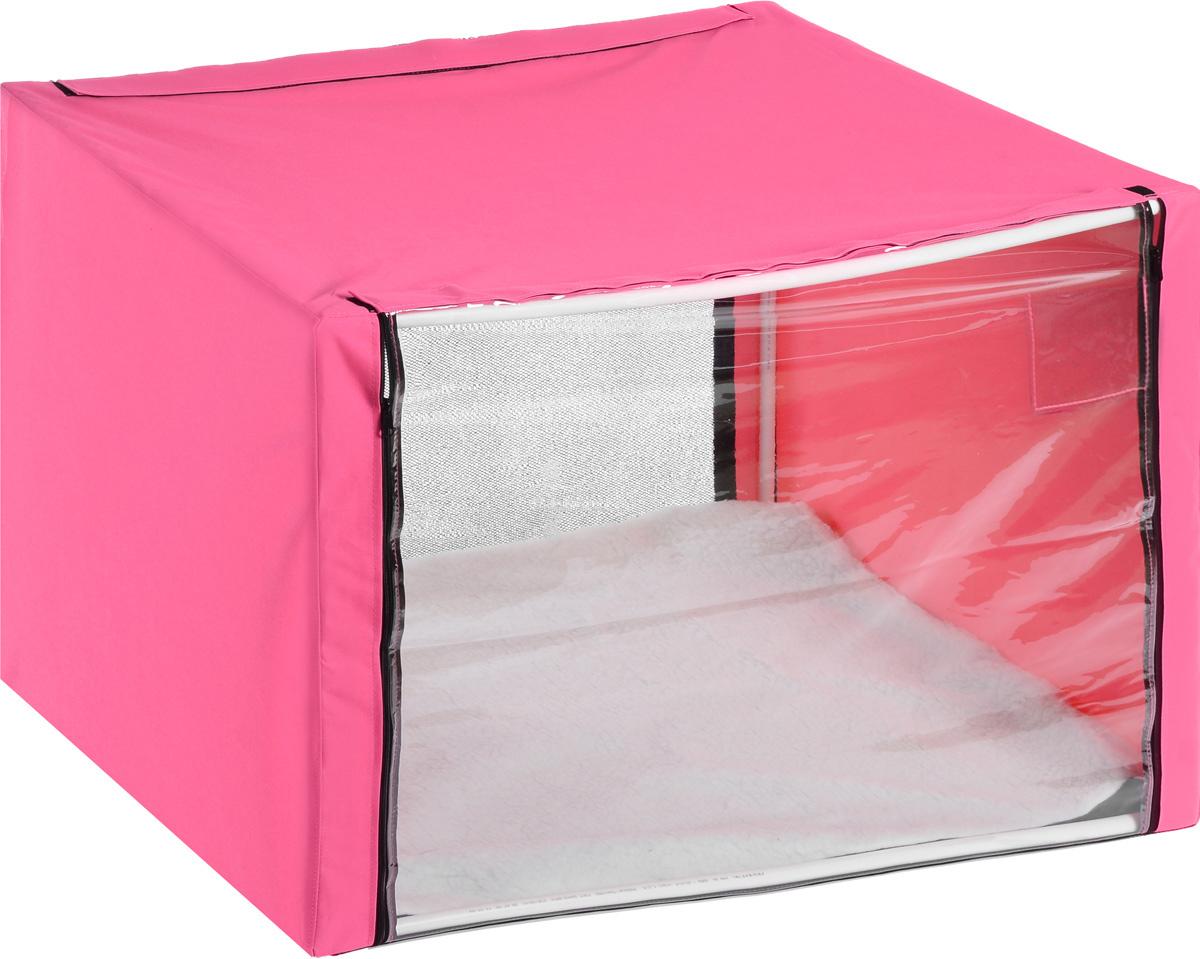 Клетка для животных Elite Valley, выставочная, цвет: розовый, прозрачный, 76 х 56 х 56 смК-9/2_розовыйКлетка Elite Valley предназначена для показа кошек и собак на выставках. Она выполнена из плотного текстиля, каркас - пластиковые трубки. Клетка оснащена съемной пленкой и съемной сеткой. Внутри имеется мягкая подстилка, выполненная из искусственного меха. Прозрачную пленку можно прикрыть шторкой. В комплекте сумка-чехол для удобной транспортировки.