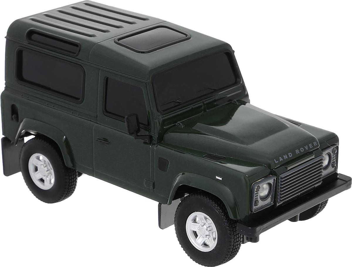 Welly Радиоуправляемая модель Land Rover Defender цвет темно-зеленый84005_зеленыйРадиоуправляемая модель Welly Land Rover Defender со световыми эффектами, являющаяся точной копией настоящего автомобиля - отличный подарок не только ребенку, но и взрослому. Автомобиль изготовлен из современных ударопрочных материалов и обладает высокой стабильностью движения, что позволяет полностью контролировать его процесс, управляя без суеты и страха сломать игрушку. Основные направления движения автомобиля: вперед-назад, влево-вправо. Радиоуправляемые игрушки способствуют развитию координации движений, моторики и ловкости. Пульт управления работает на частоте 27 MHz. Для работы автомобиля требуются 4 батарейки напряжением 1,5V типа АА (не входят в комплект). Для работы пульта управления требуются 2 батарейки напряжением 1,5V типа АА (не входят в комплект).
