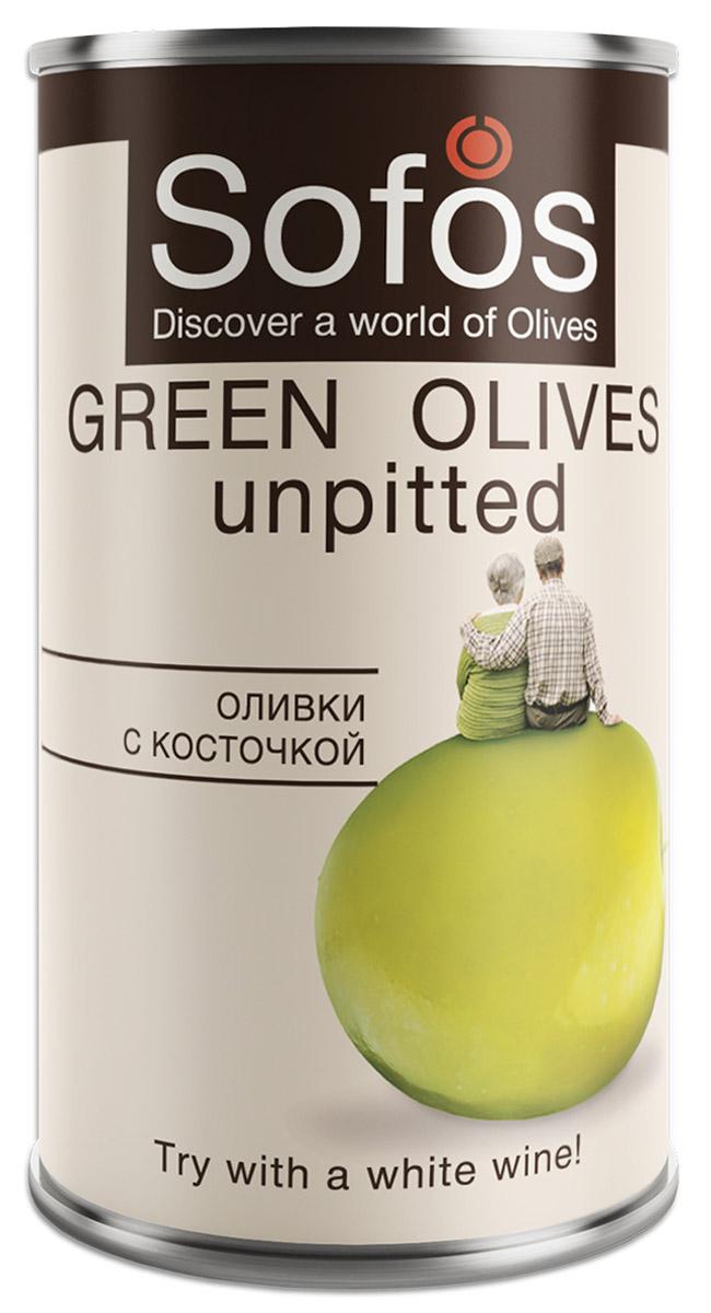 Sofos оливки с косточкой, 300 мл