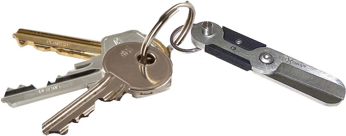 Брелок-ножницы True Utility SciXorsТU249Брелок-ножницы SkiXors. Компактные подпружиненные ножницы с быстроразъемным вытяжным зажимом для надежного и безопасного крепления к связке ключей. Удобная, продуманная конструкция со скрытой пружиной для автоматического открывания. Размер 55 х 12 мм