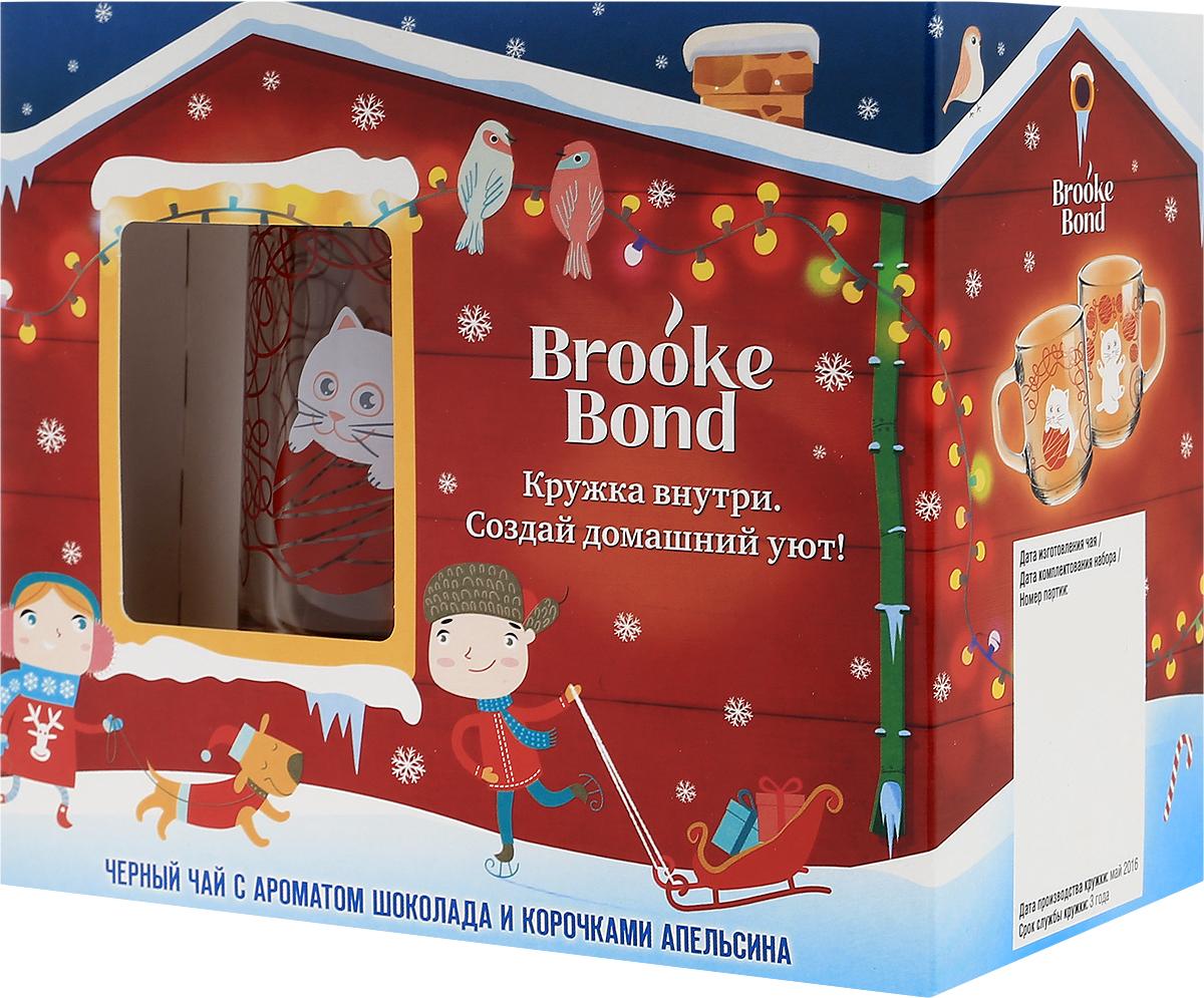 Brooke Bond чай черный листовой с ароматом шоколада и корочками апельсина, 50 г + кружка8714100712863Купаж чая Brooke Bond с ароматом шоколада и корочкой апельсина специально разработан для новогодних праздников. Кружка Brooke Bond идеально подойдет для уютного семейного чаепития. Теперь так просто почувствовать тепло родного дома! Материал кружки - стекло. Срок службы кружки - 3 года. Уважаемые клиенты! Обращаем ваше внимание, что полный перечень состава продукта представлен на дополнительном изображении.